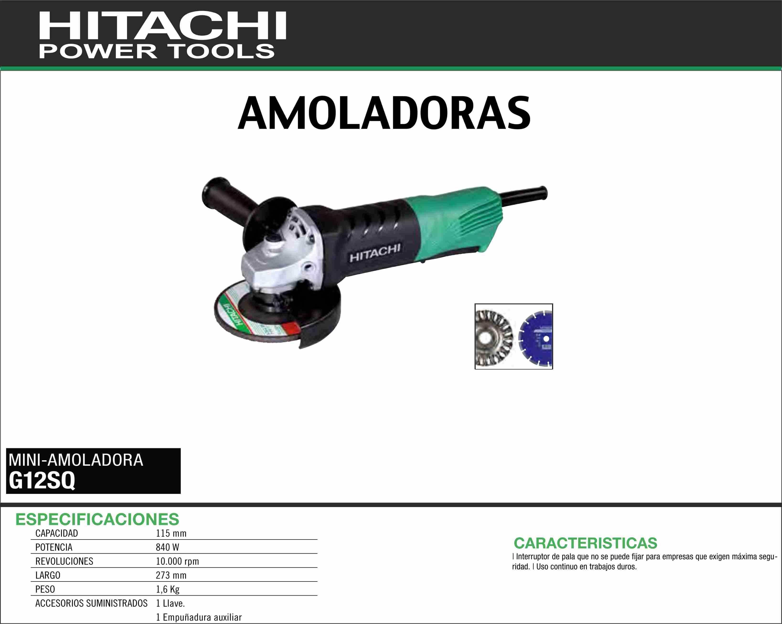 HITACHI-MAQUINARIA-AMOLADORA-MINI-G12SQ