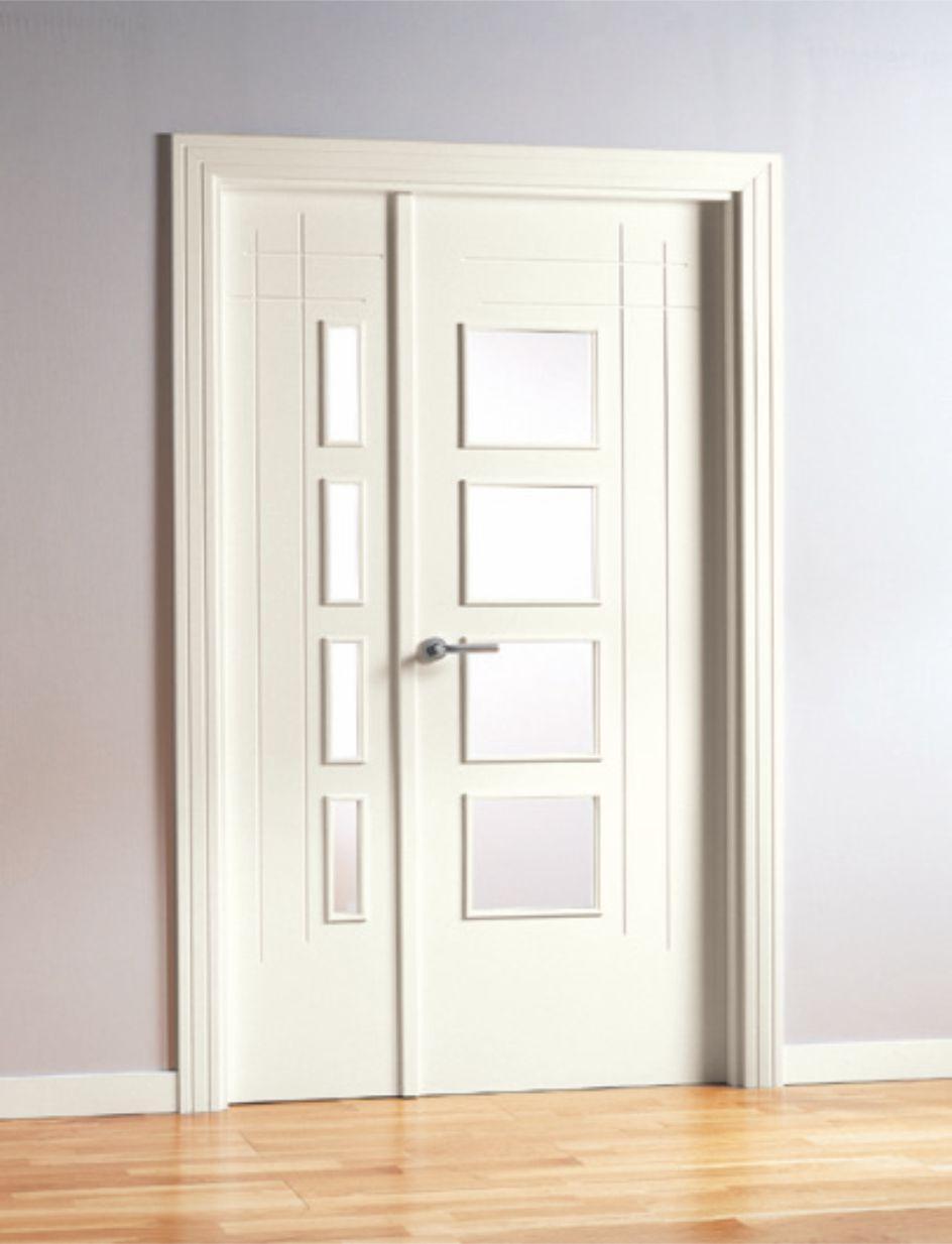 Puerta Interior Lacada Blanco Aleman MML6