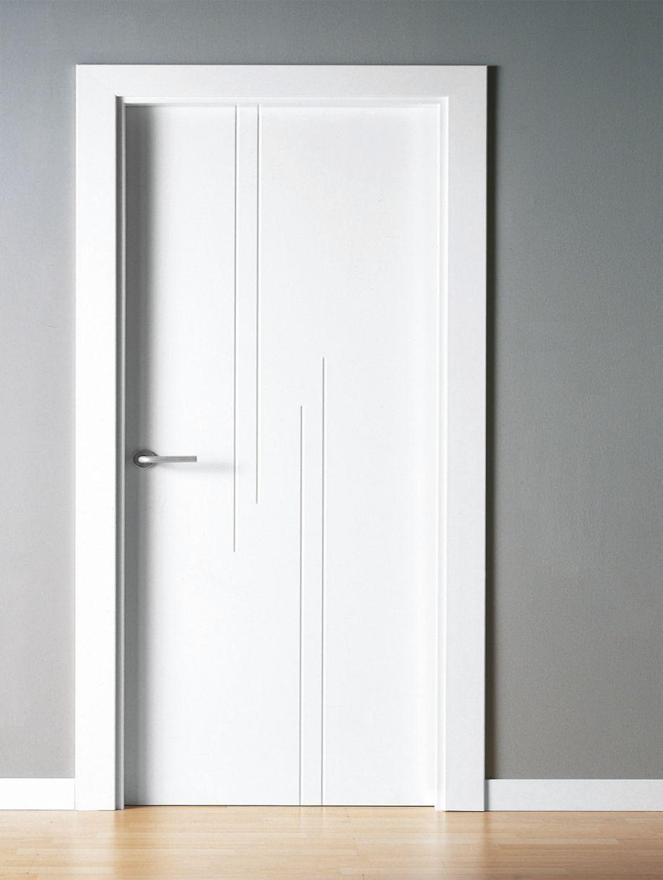 Puerta interior lacada mml7 ral 9003 - Decoracion puertas interior ...