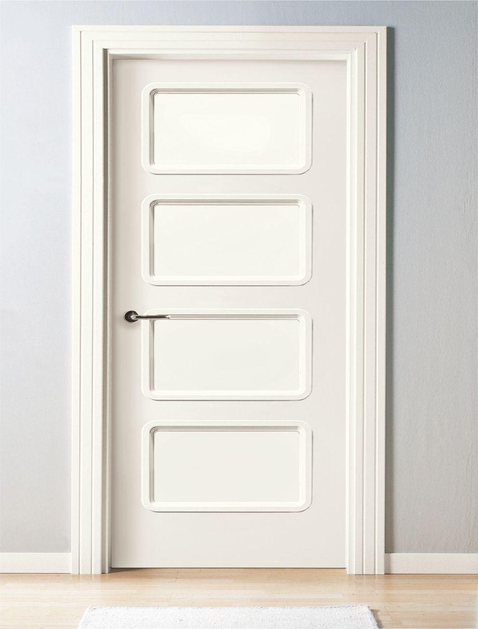 Puerta interior lacada blanco aleman 84 p4v 84 for Puerta para bano interior