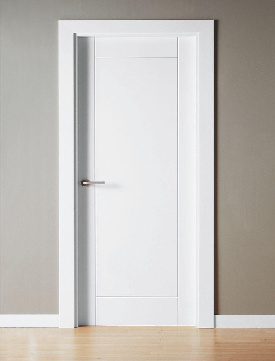 Puerta interior lacada ral 9003 mml2 for Puerta doble interior