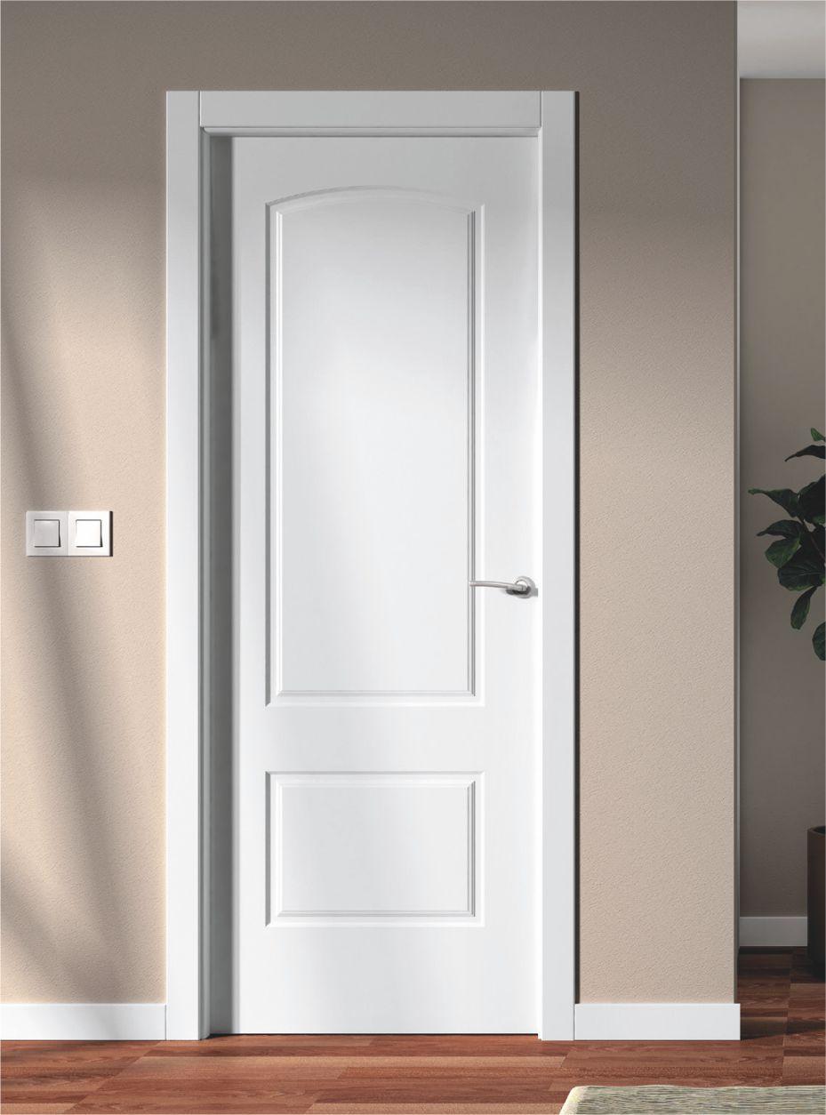 Puerta interior lacada blanco aleman pc 9081 for Puertas italianas interior