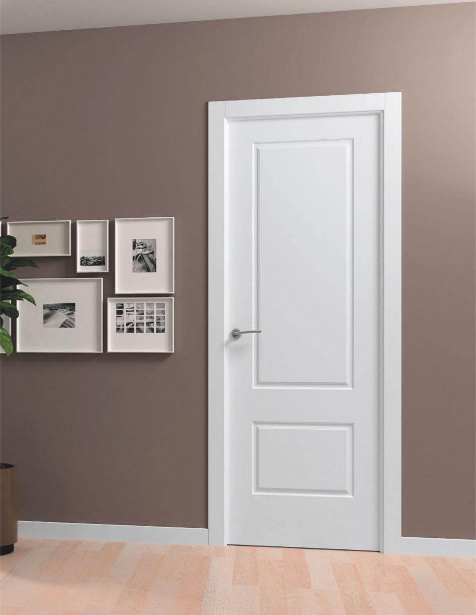 Puerta interior lacada 9080 ral 9003 for Puertas de madera en concepcion