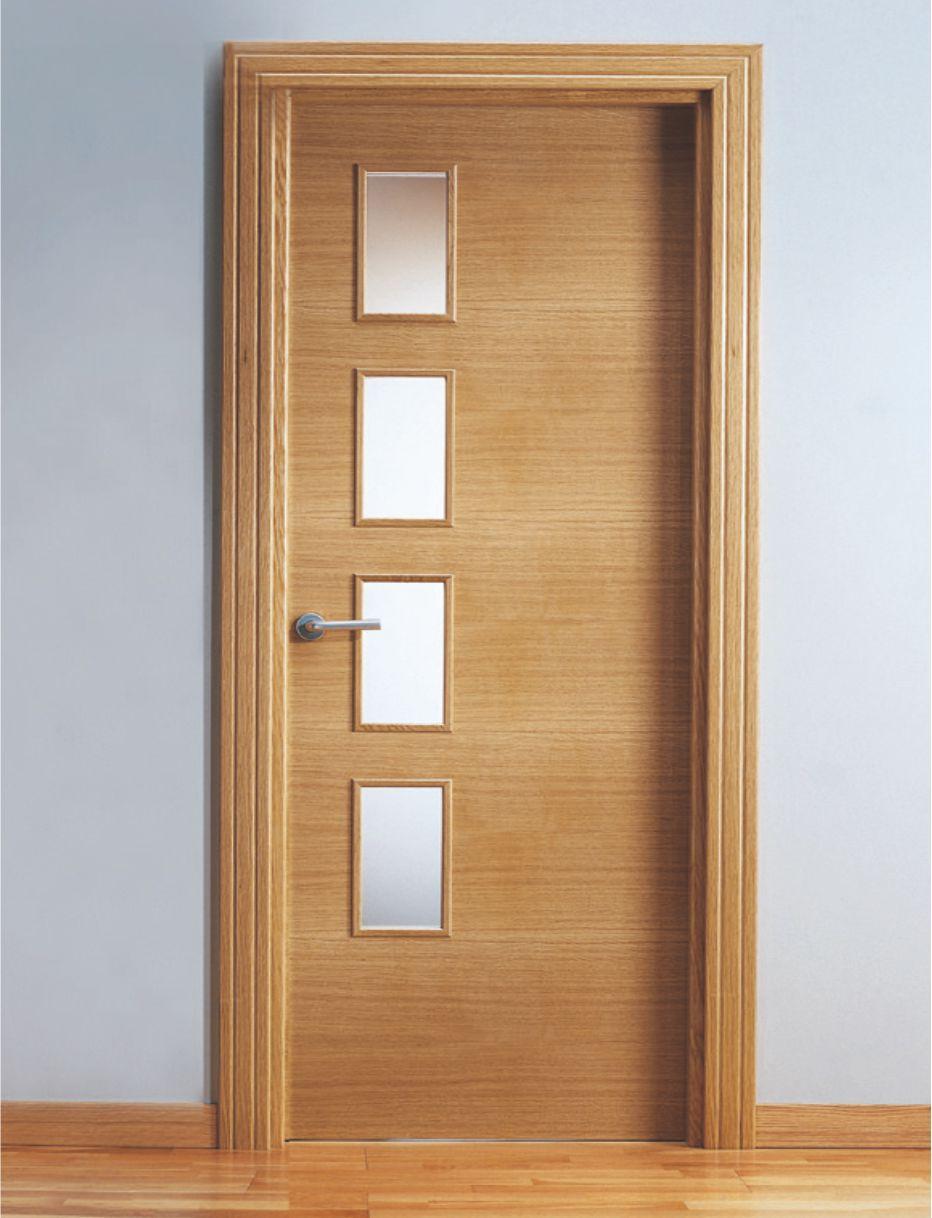 Puerta interior roble - Puertas macizas interior ...