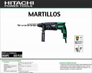 HITACHI-MAQUINARIA-MARTILLO-PERFORADOR-DH26PC-SDSPLUS